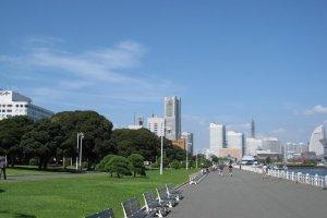 Công viên Yamashita là một nơi tuyệt vời để thư giãn.