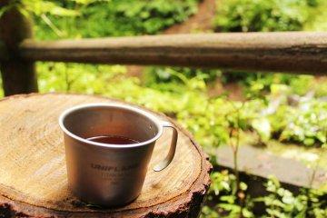 <p>A cup of tea after a short trek warmed my little English heart</p>