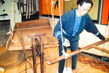 Exhibition showing winnowing