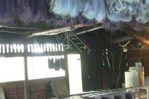 Indigo dye house, end of the main drag