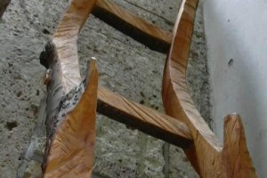 Shop interior: wooden ladder