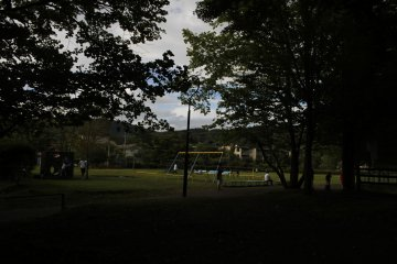 <p>Children playing in&nbsp;Yagasaki Park.</p>