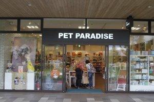 Pet paradise, a large shop for pets.