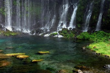 Shiraito Falls and Obinmizu