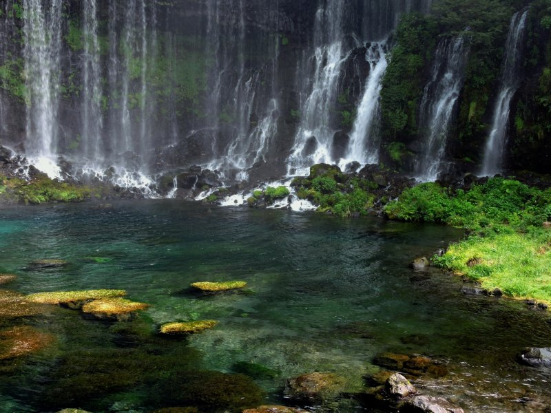 <p>Shiraito Falls is the most beautiful waterfall I have ever seen</p>