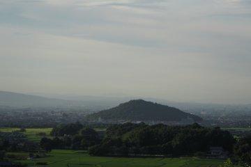 <p>Looking north toward Miminashiyama and Kashihara City</p>