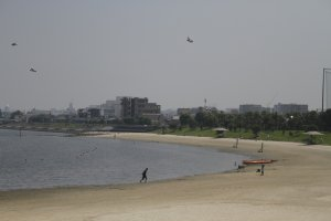 The beach located at the southern part of the park.