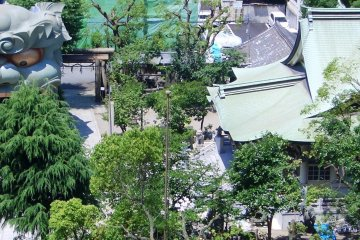 The main shrine from above.
