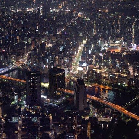 The Tokyo Skyline by Day Or Night