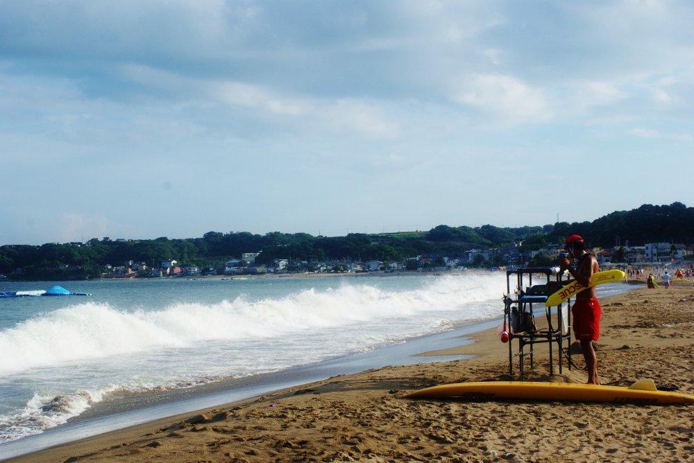 Les sauveteurs sont positionnés tout le long de la plage