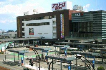 <p>Hirosaki Station from my room</p>