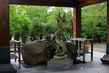 <p>A chōzuya or temizuya</p>