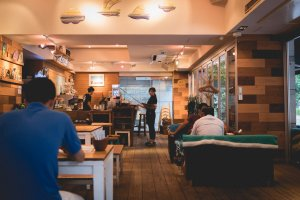 Warm, ambient and relaxing vibe at Bondi Café