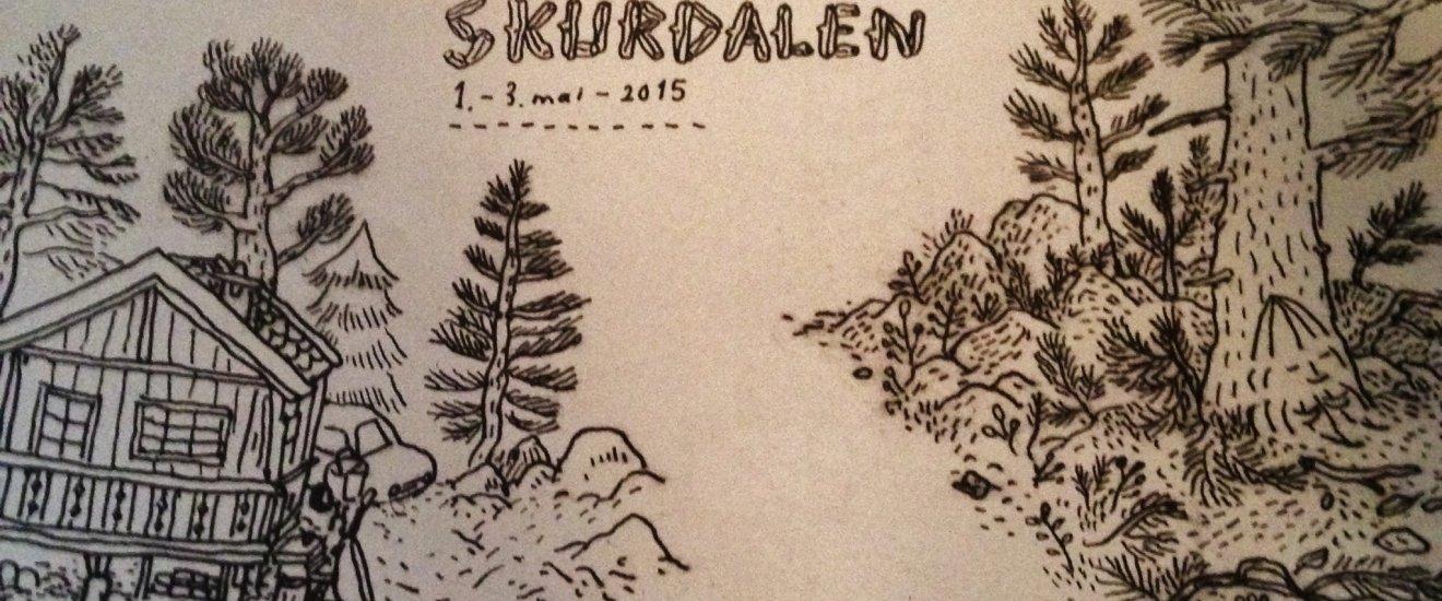 Un magazine norvégien disposé dans le café