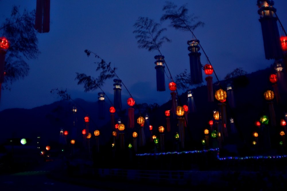 Decorações de Tanabata em Kamiyama