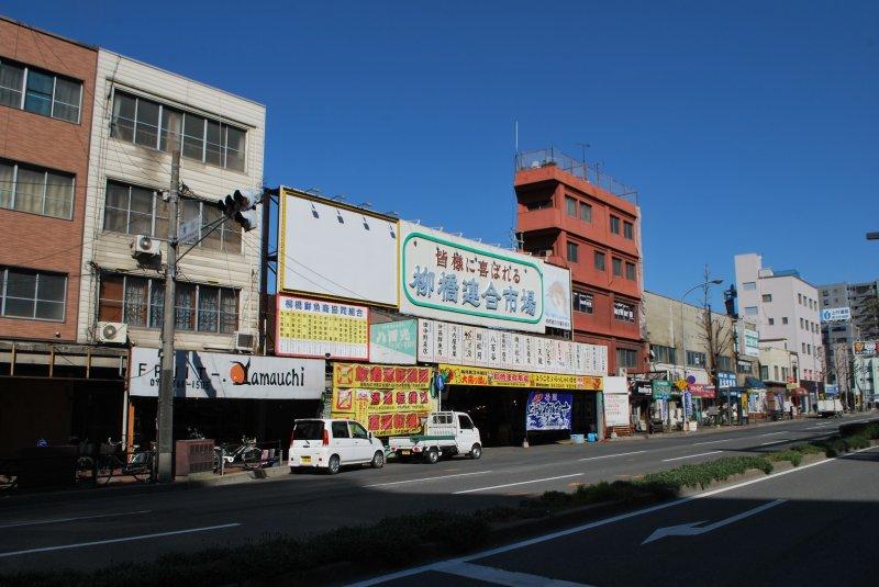<p>The entrance to the market is on Sumiyoshi-dori</p>