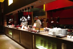 Cook to order pasta at the buffet bar