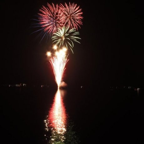 Lake Yamanaka Firework Festival in Video