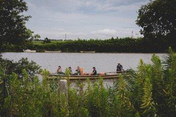 <p>Edogawa river ferry, bring some passengers back</p>