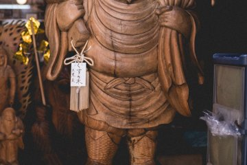 <p>Dai Ko Kuten - carved by the shopkeepers great great great grandfather</p>