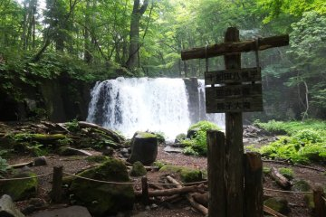 <p>The Choshi falls are arguably the most impressive falls along the trail</p>