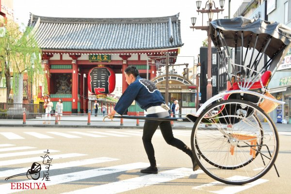 Traditional Japanese rickshaw experience