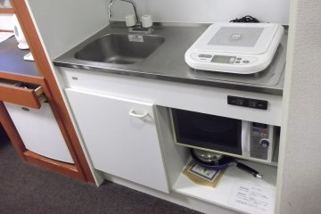 <p>My kitchenette</p>