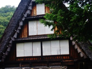 Une très vieille maison traditionnelle japonaise