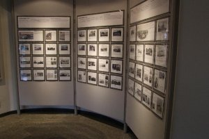 Panel displays with photographs and introductions of some of the most distinguished early foreign community members of Yokohama.