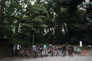 <p>Стоянка для велосипедов</p>
