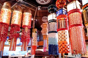 The museum allows you to get up close and personal to Tanabata decorations