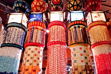 See Tanabata decorations up close, without the crowds