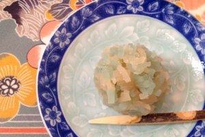 Seiryuu Kinton - Kinton adalah gula-gula Jepang yang terbuat dari chesnut (kastanye) dan gula