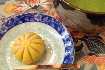 <p>A sweet shaped like a chrysanthemum.</p>