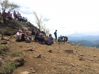 Many hikers stop for lunch at the top.