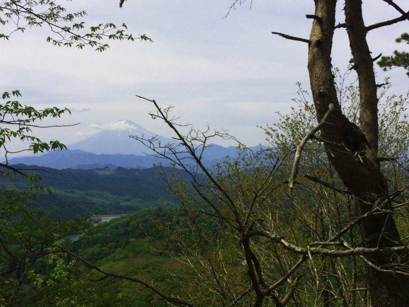 เราสามารถมองเห็นภูเขาฟูจิในขณะที่เราเดินขึ้นเขา