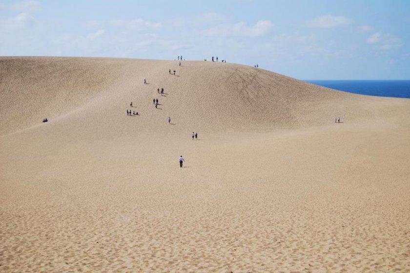 Взбираясь по дюнам