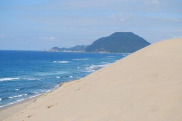 The Sea of Japan is right behind the dunes