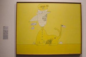 Sebuah kritik sosial dengan metode lukisan yang kocak