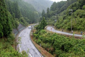 The near the first hill climb between Uda and Soni