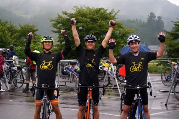 <p>My riding companions and myself upon completion of the race</p>