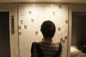 A tourist map is available for your travel in Kyoto