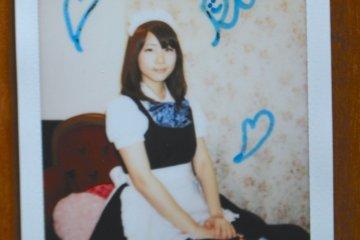 <p>A photo of my waitress</p>