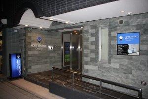 The entrance to Hotel MyStays Otemae