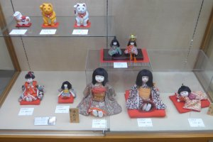 These dolls were sewn by hand and were popular as gifts back then.