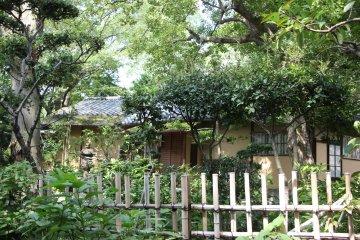 <p>Я обнаружила чайный домик на территории сада, но он был закрыт</p>