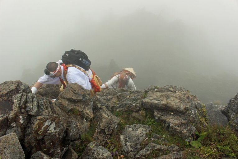 Practicing Shugendo on Mt. Omine
