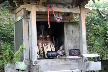 <p>A statue of En no Gyoja, the founder of Shugendo, at the Dorotsuji Tea House</p>