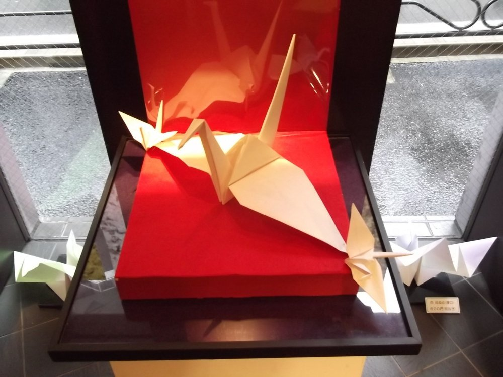 Of course there are lots of paper cranes