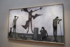 One of the large paintings, 'La Passion du Christ: La Flagellation'